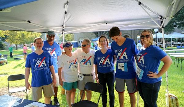 Team Axa At The Nola Blue Doo Run T-Shirt Photo
