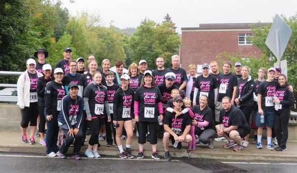 Pink Pedestrians Pounding The Pavement For Seymour Pink T-Shirt Photo