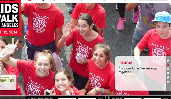 Milken Kids Who Care  Aids Walk 2014 T-Shirt Photo