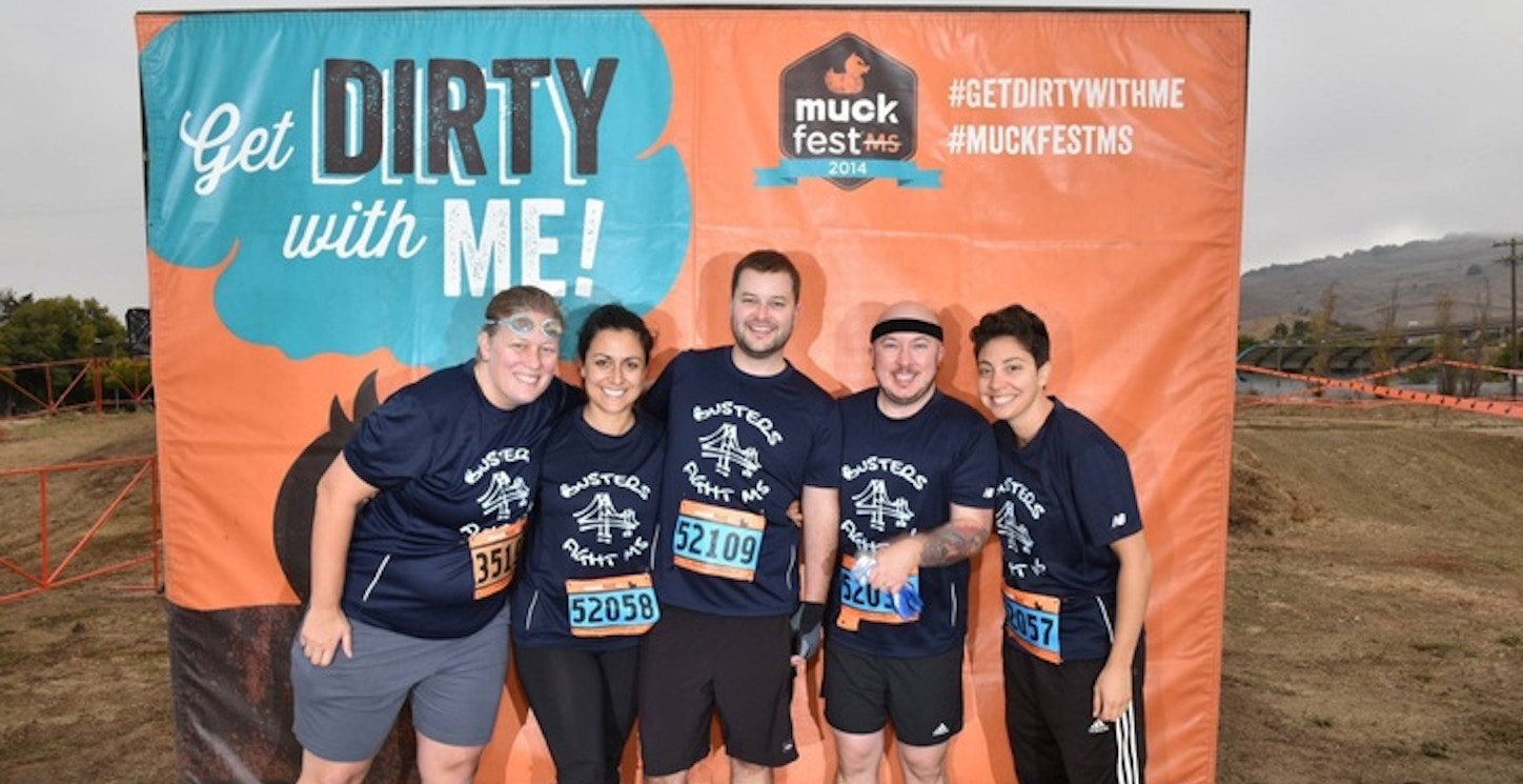 Friends Getting Dirty To Fight Multiple Sclerosis T-Shirt Photo