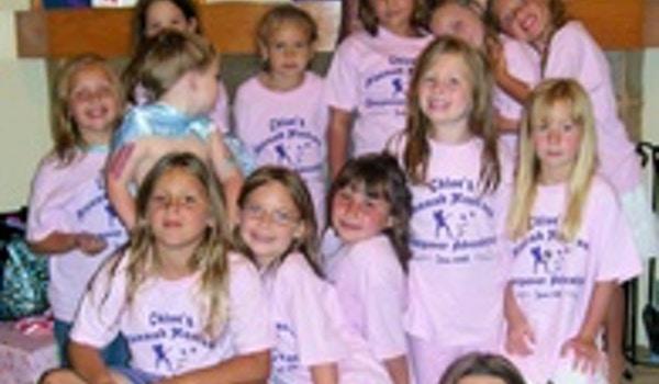 Chloe's 7th Birthday Hannah Montana Sleepover Adventure T-Shirt Photo