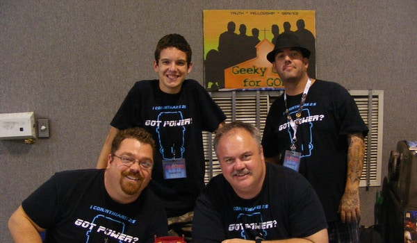 Participating In The First Christian Comic Con (Alpha Omega Con) T-Shirt Photo