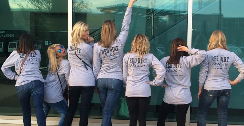 Red Dirt Readers Girls Weekend T-Shirt Photo