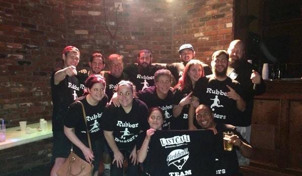 Rubber Busters   Kickball Team T-Shirt Photo