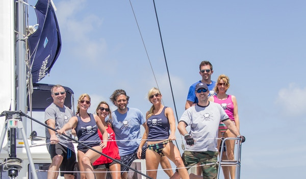 On A Boat In The British Virgin Islands T-Shirt Photo