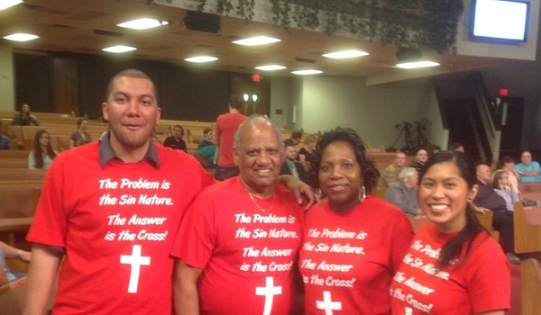The Problem Is The Sin Nature, The Answer Is The Cross! T-Shirt Photo