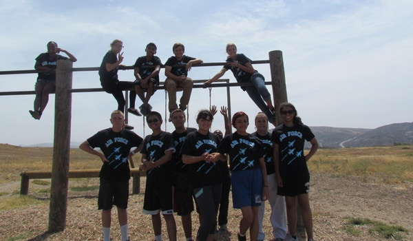 Afjrotc In Action Obstacle Course Camp Pendleton T-Shirt Photo