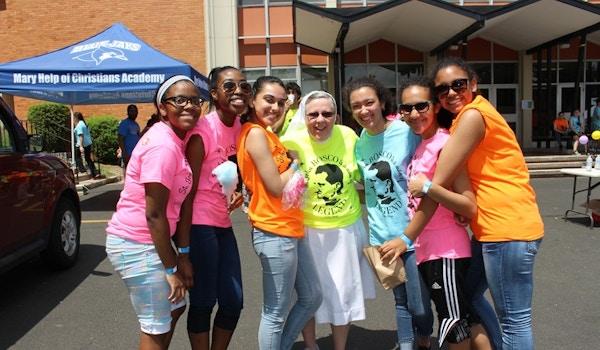 Mary Help Of Christians Academy Celebrates St. John Bosco's 200th Birthday With Neon Custom Ink Shirts & A Carnival! T-Shirt Photo