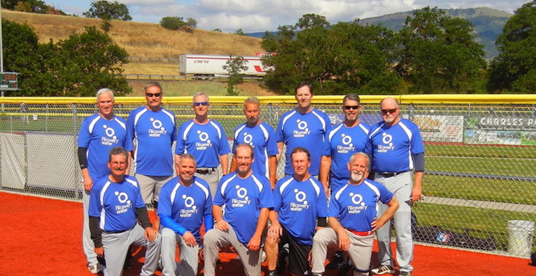 Reliant Recovery Water 65 Senior Softball Team T-Shirt Photo