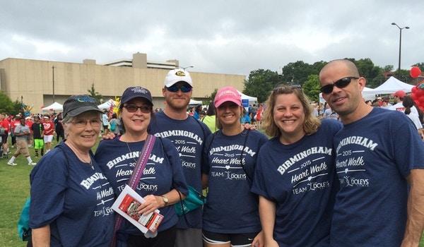 The Doleys Clinic Team At The Birmingham Heart Walk 2015 Event T-Shirt Photo