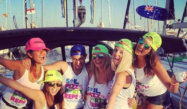 Team Pizza At The Yacht Week   Croatia! T-Shirt Photo