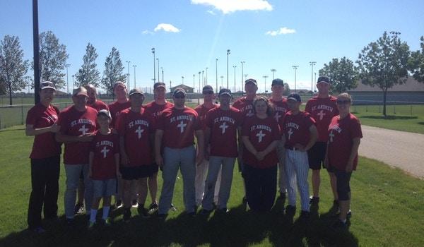 St. Andrew Softball Team West Fargo, Nd T-Shirt Photo