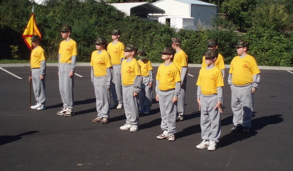 Young Marines In Formation T-Shirt Photo