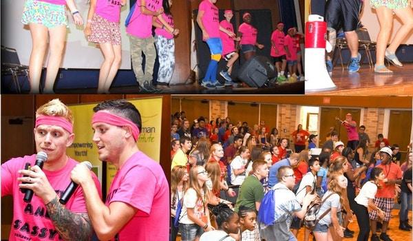 500 Teen Leaders Get Sweaty And Sassy With Custom Ink Shirts And 80's Aerobics! T-Shirt Photo