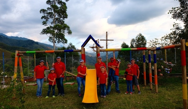 School Playground Buidling Team T-Shirt Photo