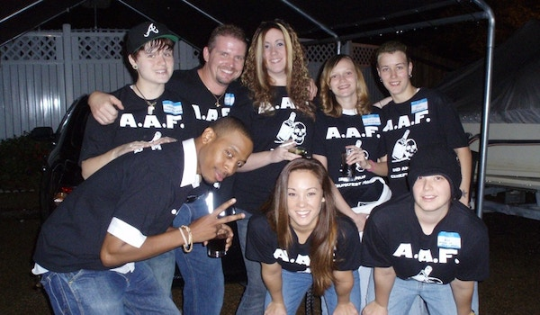 1/2 The A.A.F. Crew Before We Rode Out. T-Shirt Photo