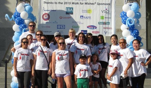 Team Weideman Walking For Wishes T-Shirt Photo