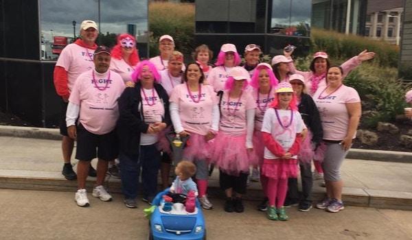 Breast Cancer Walk Celebrating Survival  T-Shirt Photo