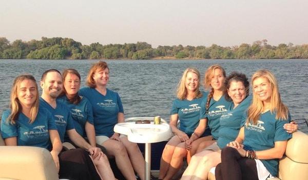 Sunset Cruise On The Zambezi In Zimbabwe T-Shirt Photo