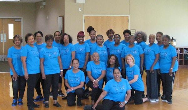 Our Blue Monarch Line Dance Class Rocks! T-Shirt Photo