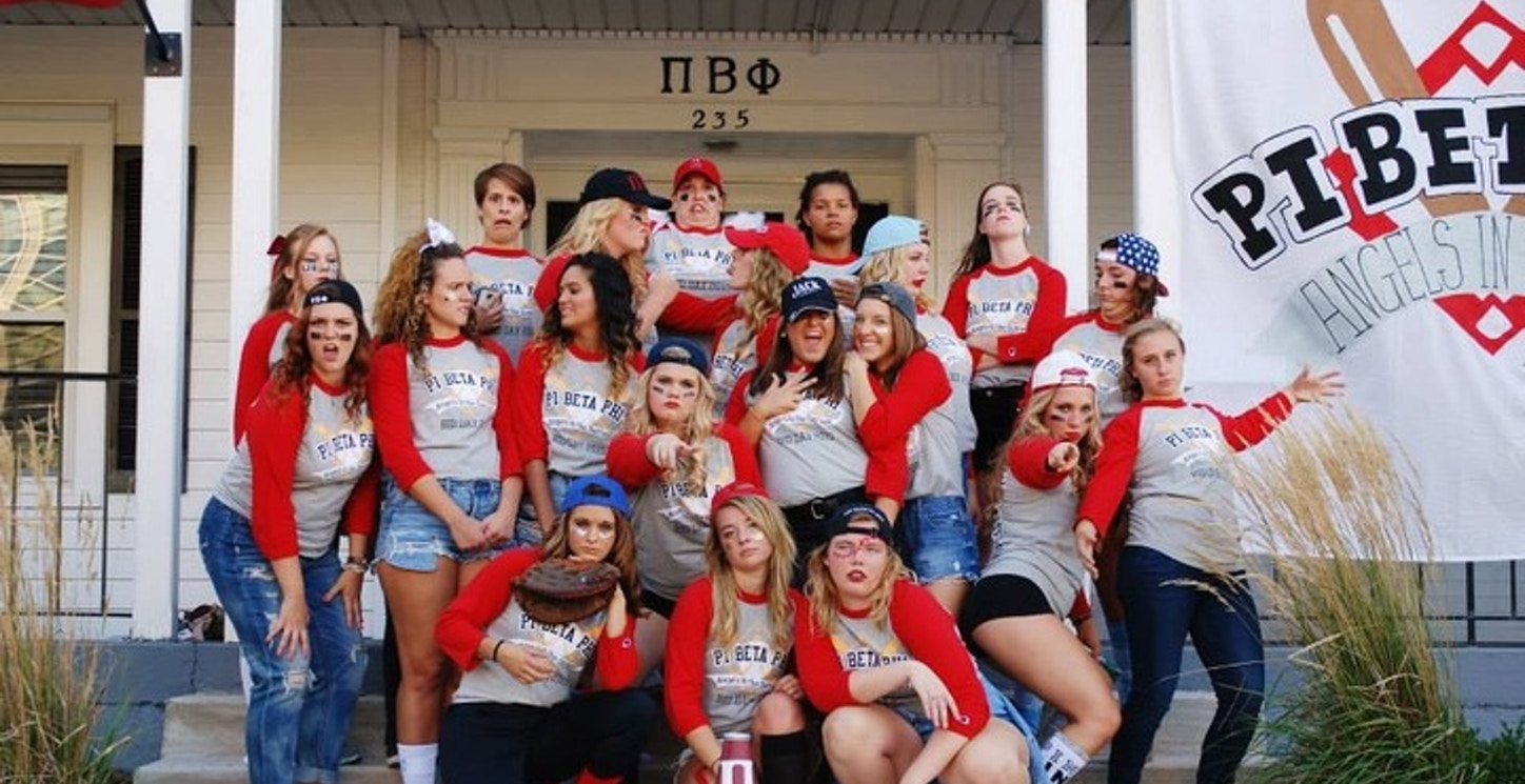 Pi Beta Phi Angels In The Outfield  T-Shirt Photo