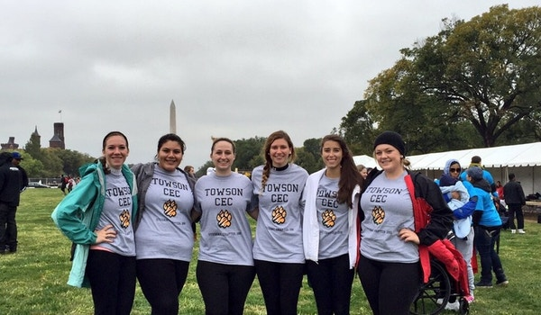Towson Cec At Walk Now For Autism Speaks  T-Shirt Photo