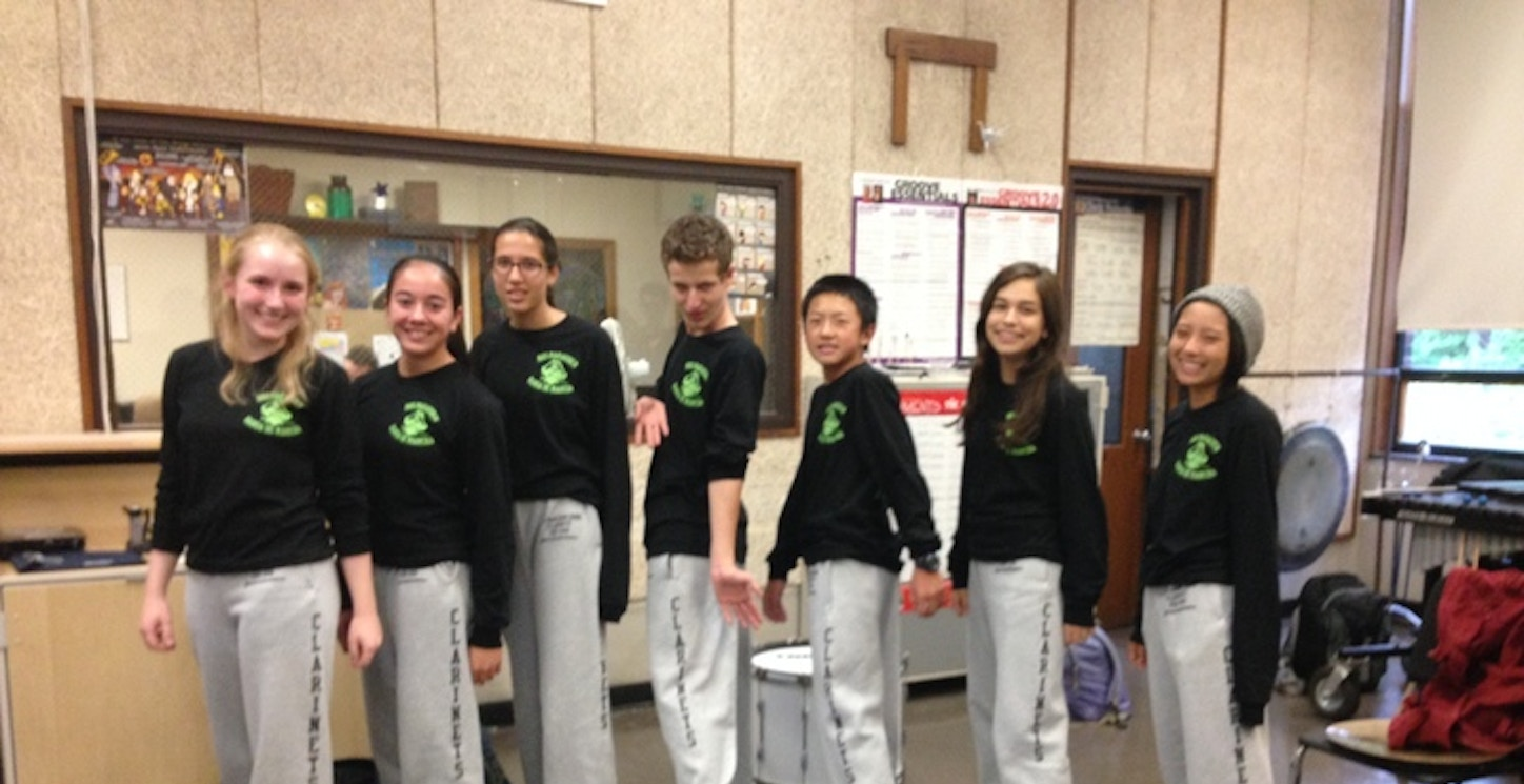 Marching Band Clarinets With Best Section Spirit T-Shirt Photo