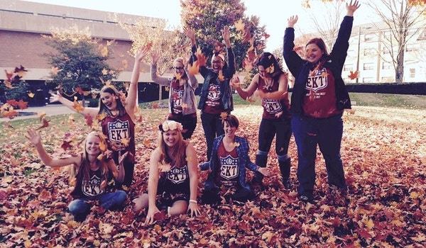 Falling Into Tailgate Season With Sisters T-Shirt Photo