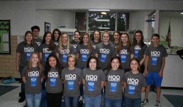 Hoo Cares? We Do!!  T-Shirt Photo