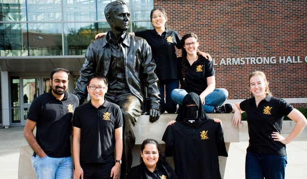 Our Lab Group Plus Neil Armstrong! T-Shirt Photo