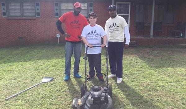 Raising Men Lawn Care Service  T-Shirt Photo