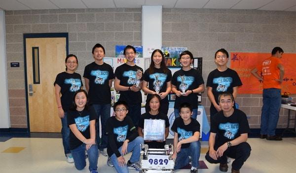 Team Mak Bots And Our Robot T-Shirt Photo