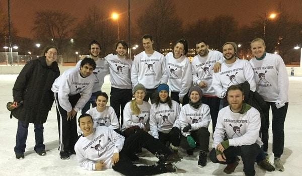 Darwin's Revenge At The Broomball Quarterfinals! T-Shirt Photo