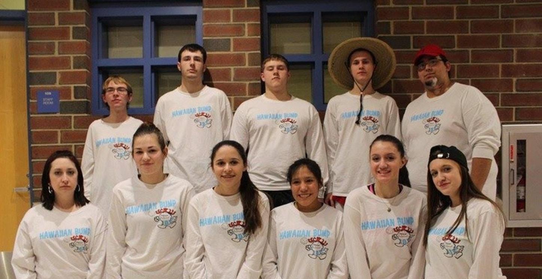 Hawaiian Bump Volleyball Team T-Shirt Photo
