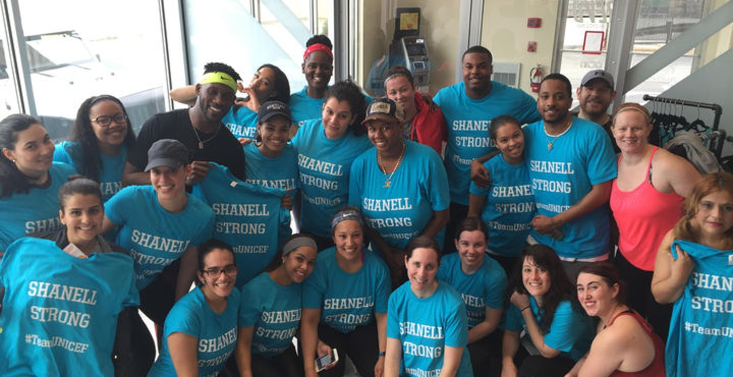 Shanell Strong #Team Unicef Charity Ride Event T-Shirt Photo