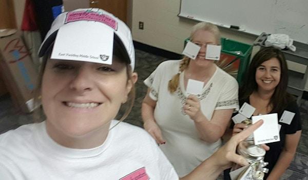 We Go A Little Post It Crazy For Our Teachers!! T-Shirt Photo