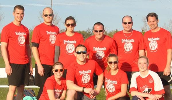 Frisbeasts: Ulitmate Frisbee Team T-Shirt Photo