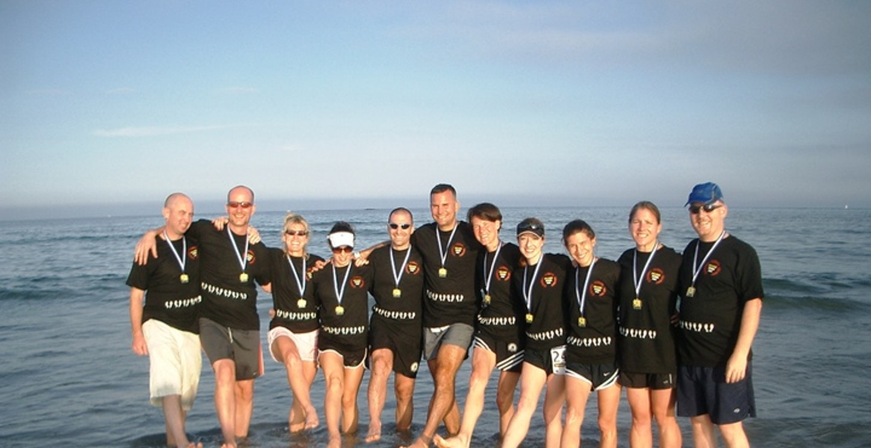 At The Reach The Beach Finish Line T-Shirt Photo