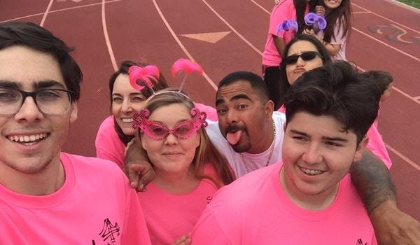 Thinking Pink Around The Track T-Shirt Photo