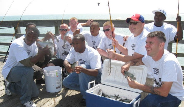 Wounded Warriors Hit The Pier T-Shirt Photo
