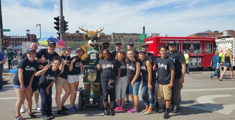 Milwaukee Bucks Block Party T-Shirt Photo