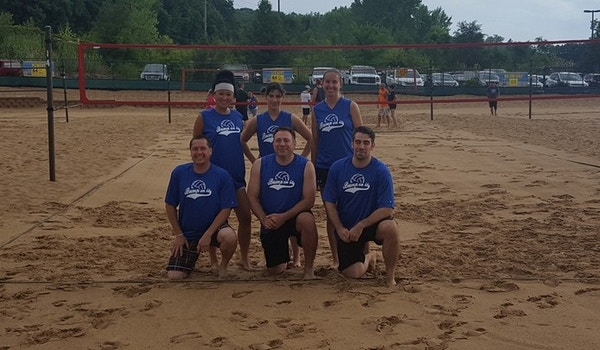 """Sand Volleyball Team """"Bump On It"""" T-Shirt Photo"""