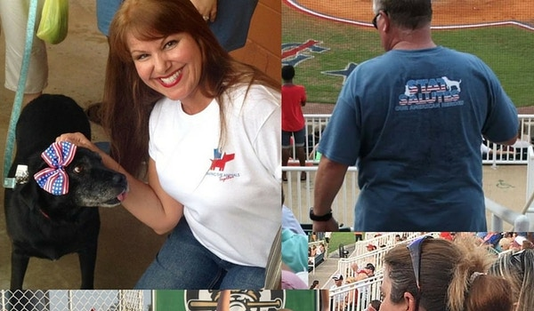 #Stat Salutes American Heroes At The Ballpark! T-Shirt Photo