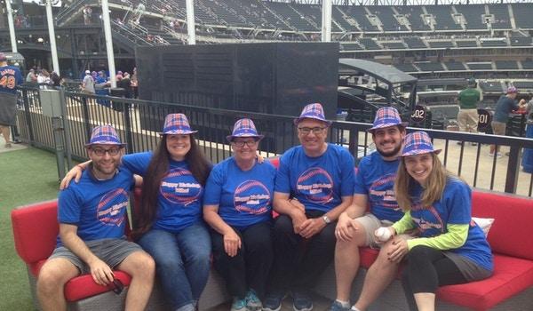 Dad's Surprise 65th! Let's Go Mets! T-Shirt Photo