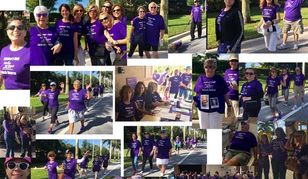 A Collage Of Valencia Reserve's Mini Alzheimer's Walk T-Shirt Photo