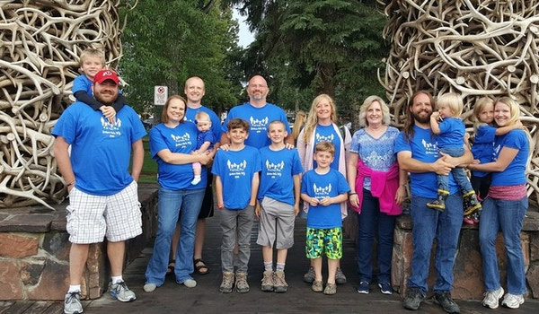 The Whole Gang And The Antler's Arch T-Shirt Photo