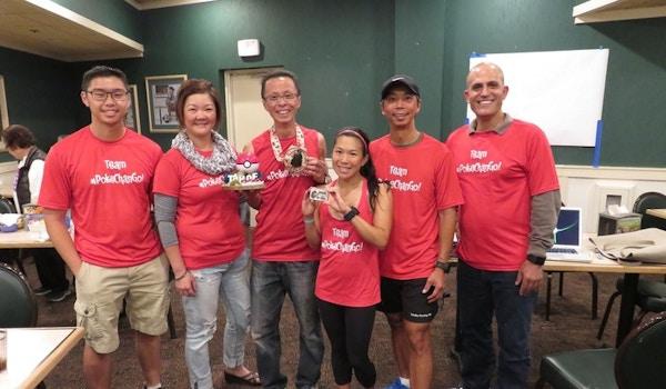 Team #Poke Chan Go: Peter's Tahoe 200 Mile Endurance Run T-Shirt Photo