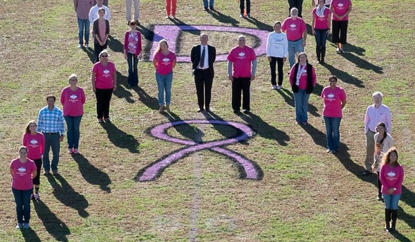 Dickinson High School Breast Cancer Awareness T-Shirt Photo