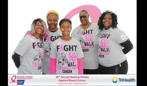 2016 Making Strides Against Breast Cancer Cincinnati T-Shirt Photo