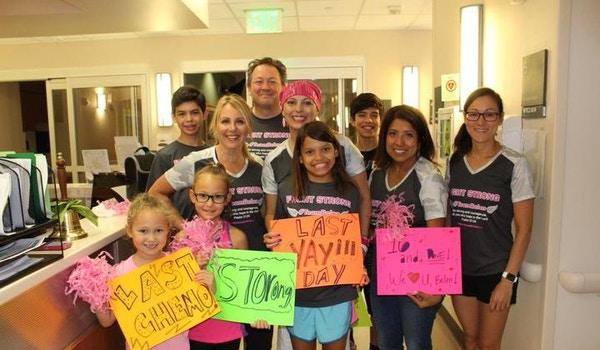 Last Chemo!  #Team Belen Fight Strong T-Shirt Photo